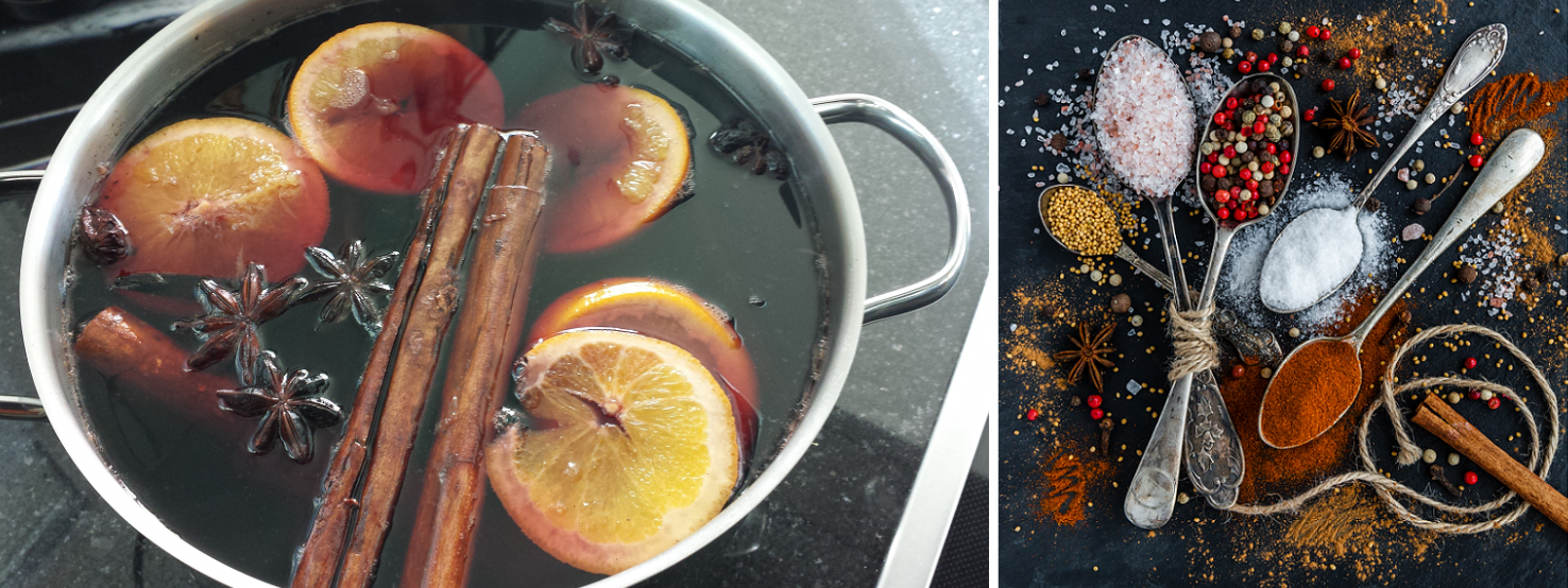 Mulled wine - pot and spices