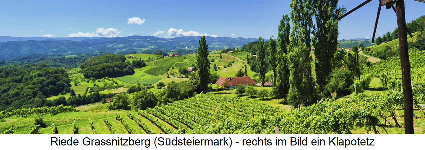 Riede Grassnitzberg (southern Styria) - on the right a Klapotetz