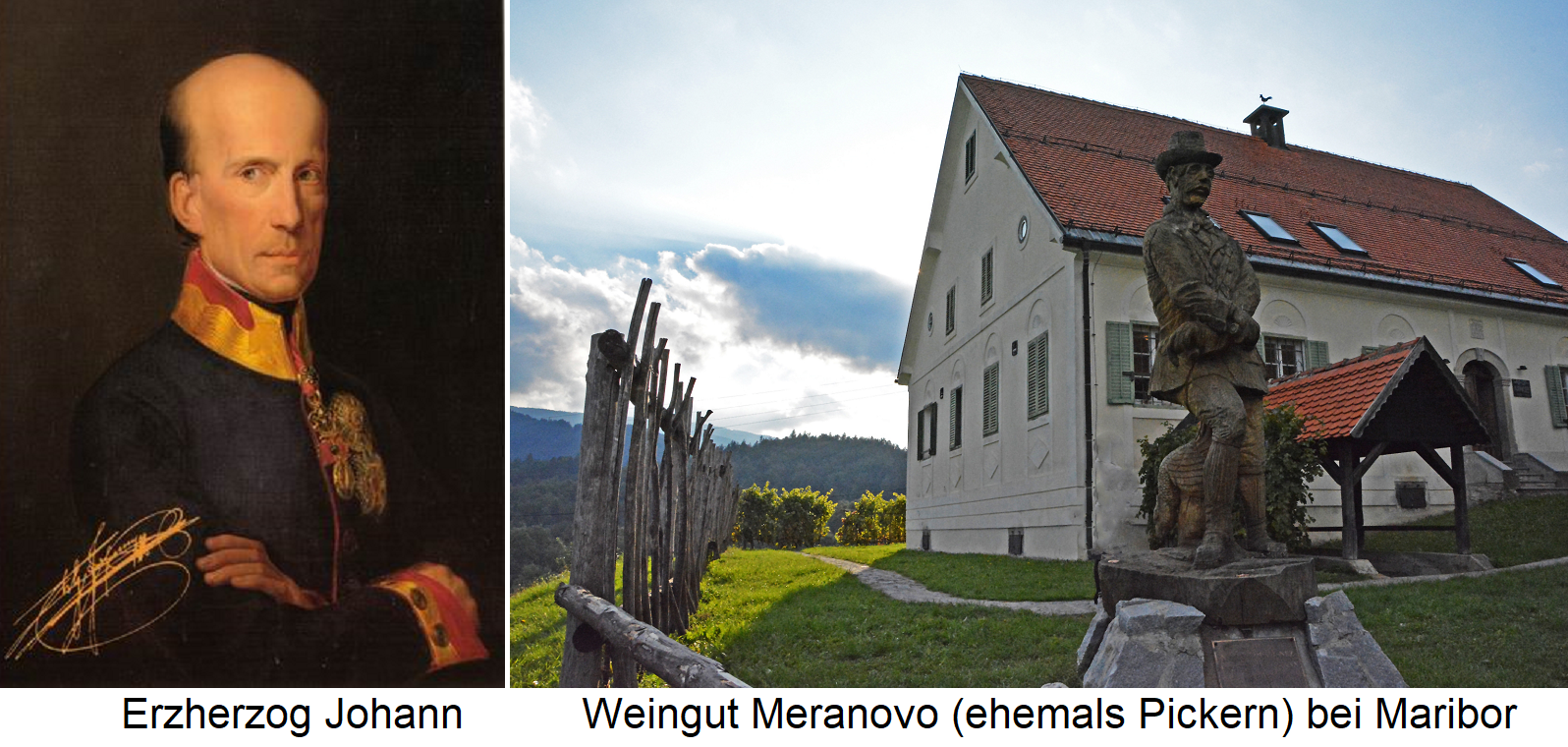 Erherzog Johann - Port and winery Meranovo (Pickern) at Maribor
