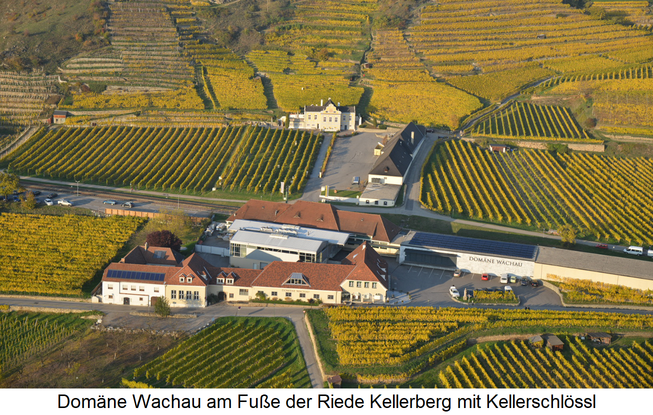 Domain Wachau at the foot of the Riede Kellerberg with Kellerschlössl