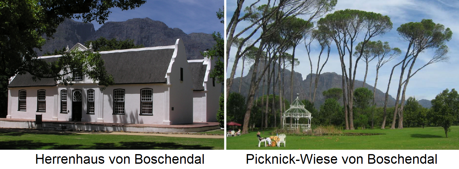 Boschendal - manor house and picnic meadow