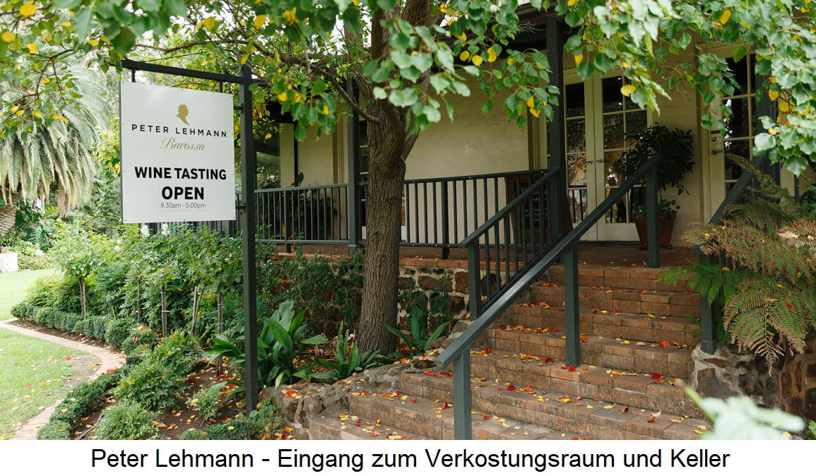 Peter Lehmann - Entrance to the tasting room and cellar