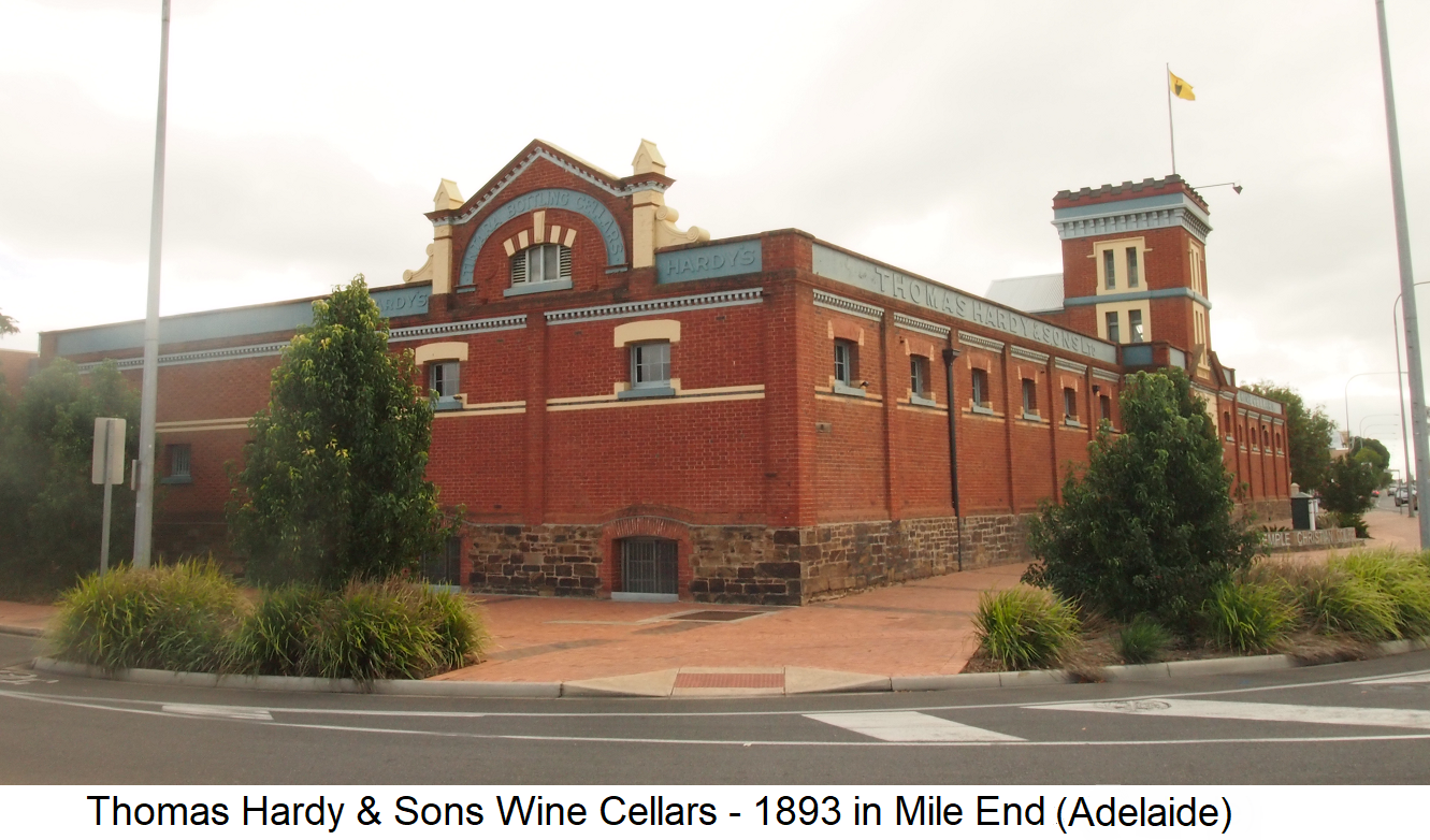 Thomas Hardy & Sons Wine Cellars - 1893 at Mile End (Adelaide)