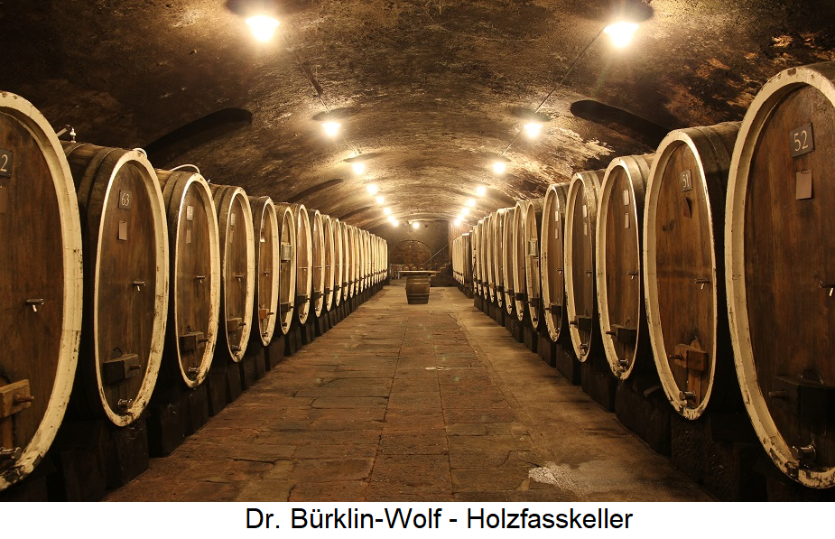 Dr. Bürklin Wolf - wooden barrel cellar