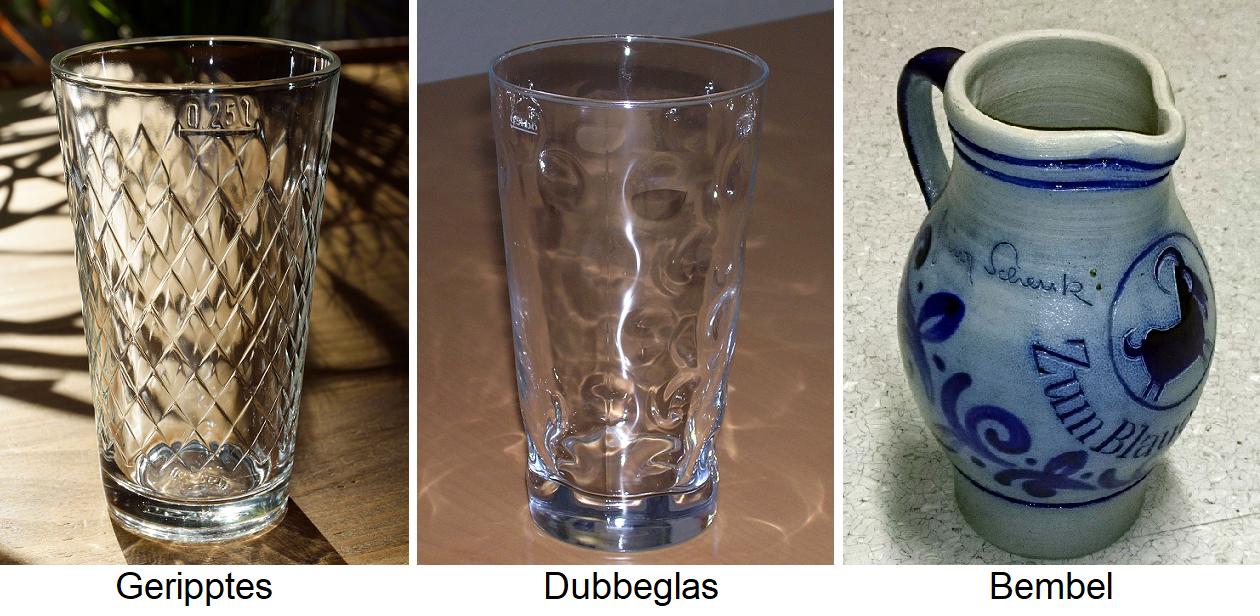 Glasses - Ribbed, Dubbegals, Bembel