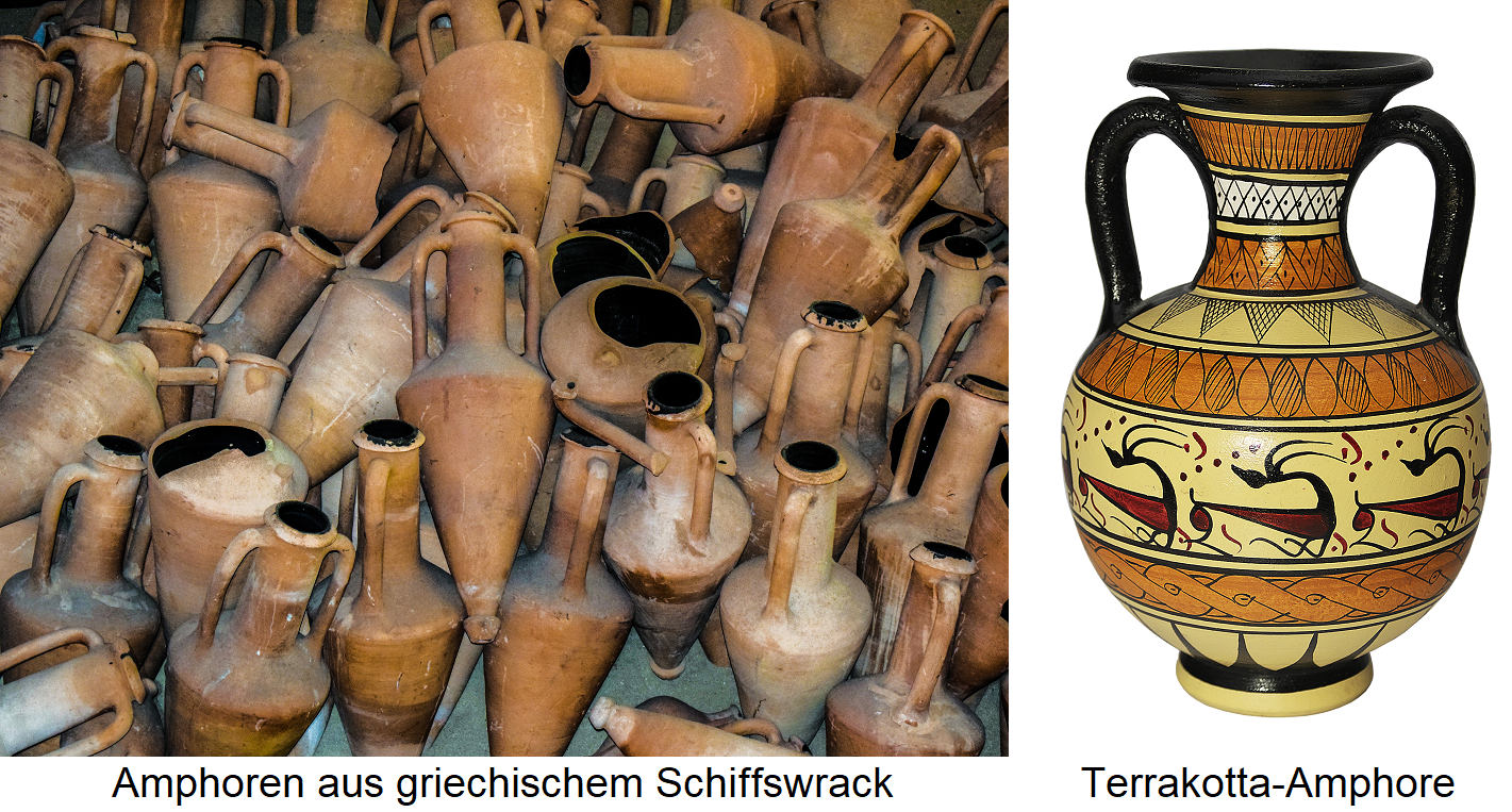 Amphorae - from Greek shipwreck and terracotta amphora