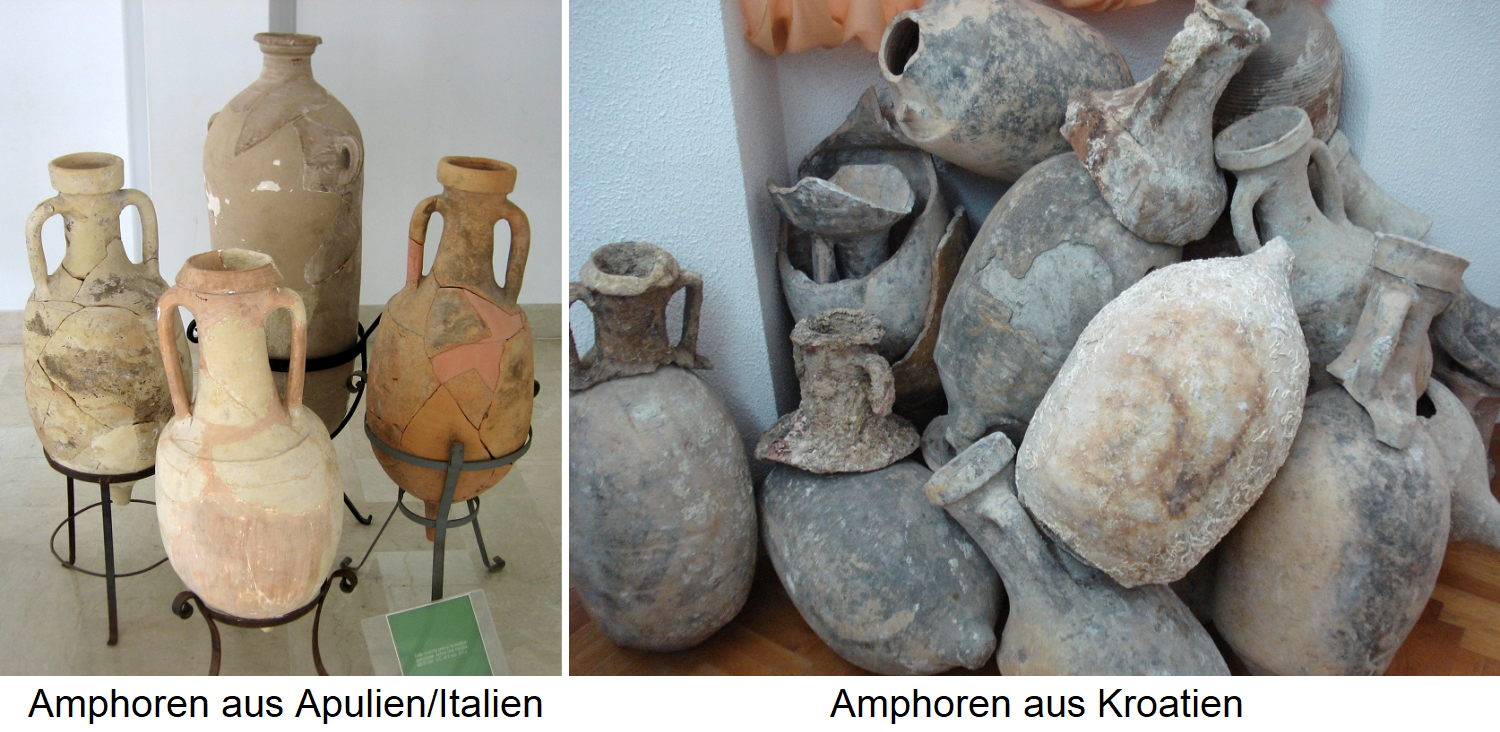 Amphorae from Apulia / Italy / Amphorae from Croatia