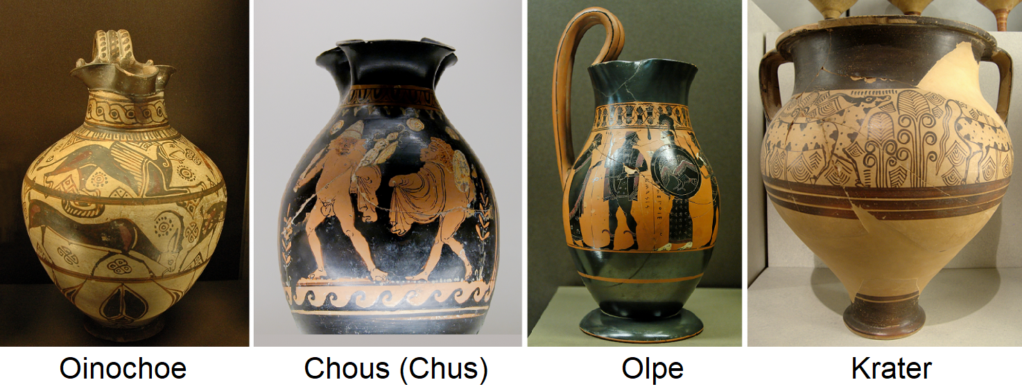 Oinochoe, Chpus (Chus), Olpe, crater
