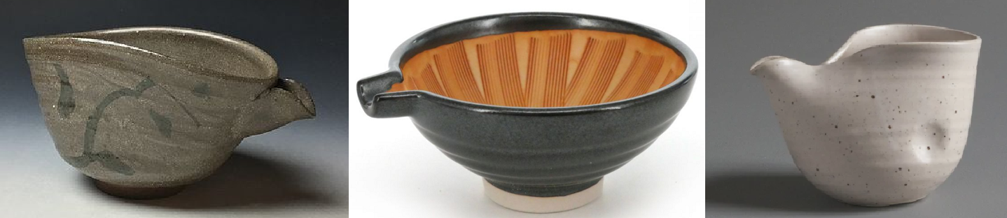 Katakuchi - three different vessels