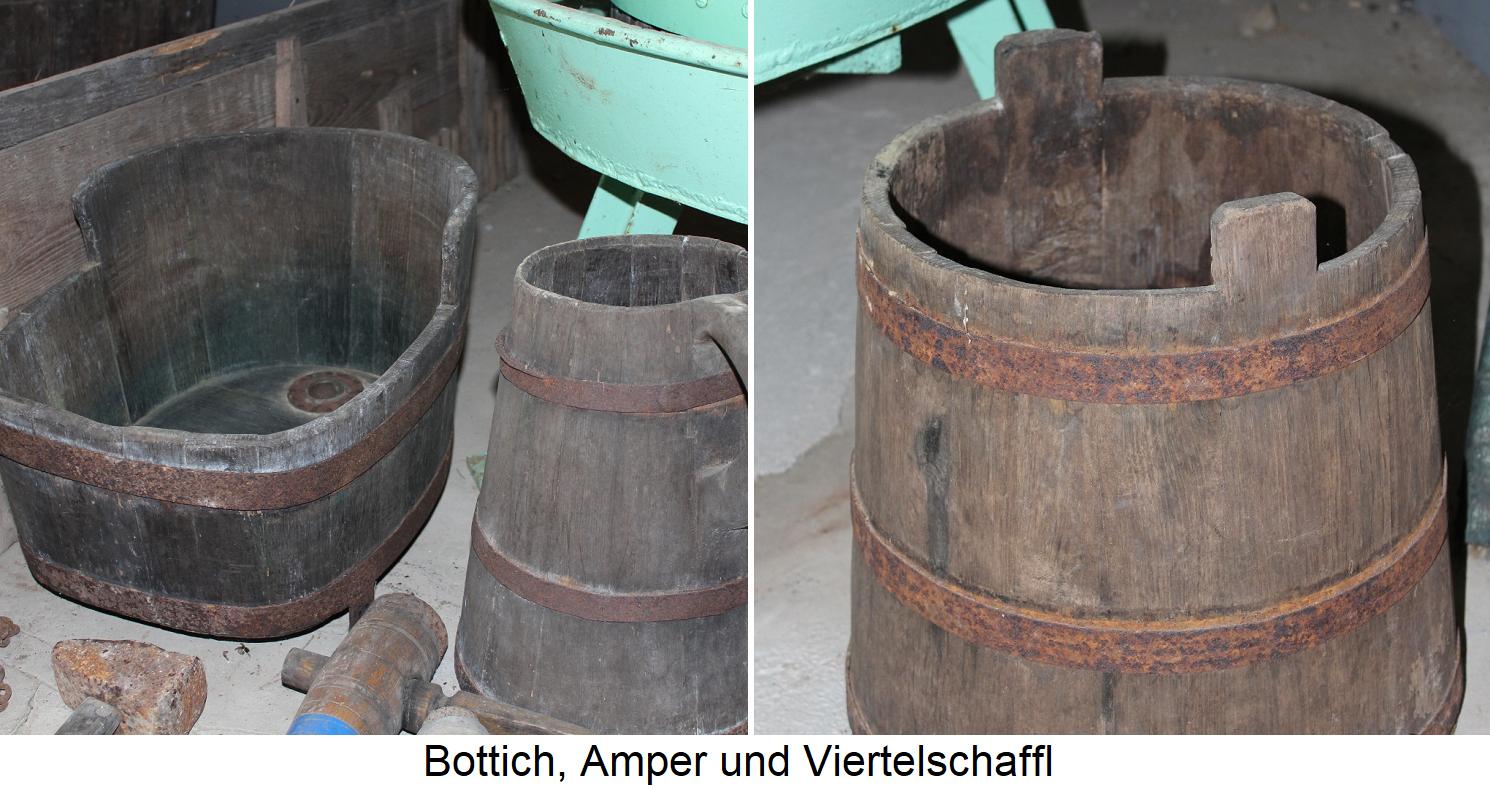 Barrel dishes - vat, amper and quarter sheep