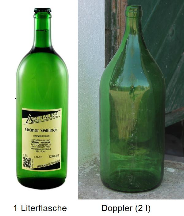 1 liter bottle and Doppler