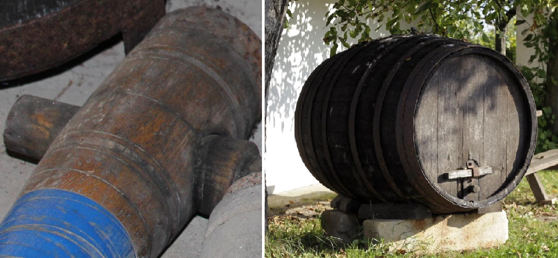 Hatchet with barrel
