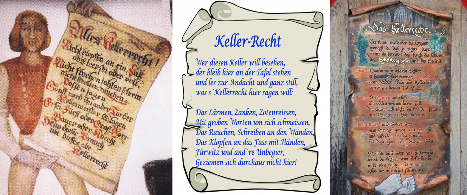 Kellerrecht - three different panels or sayings