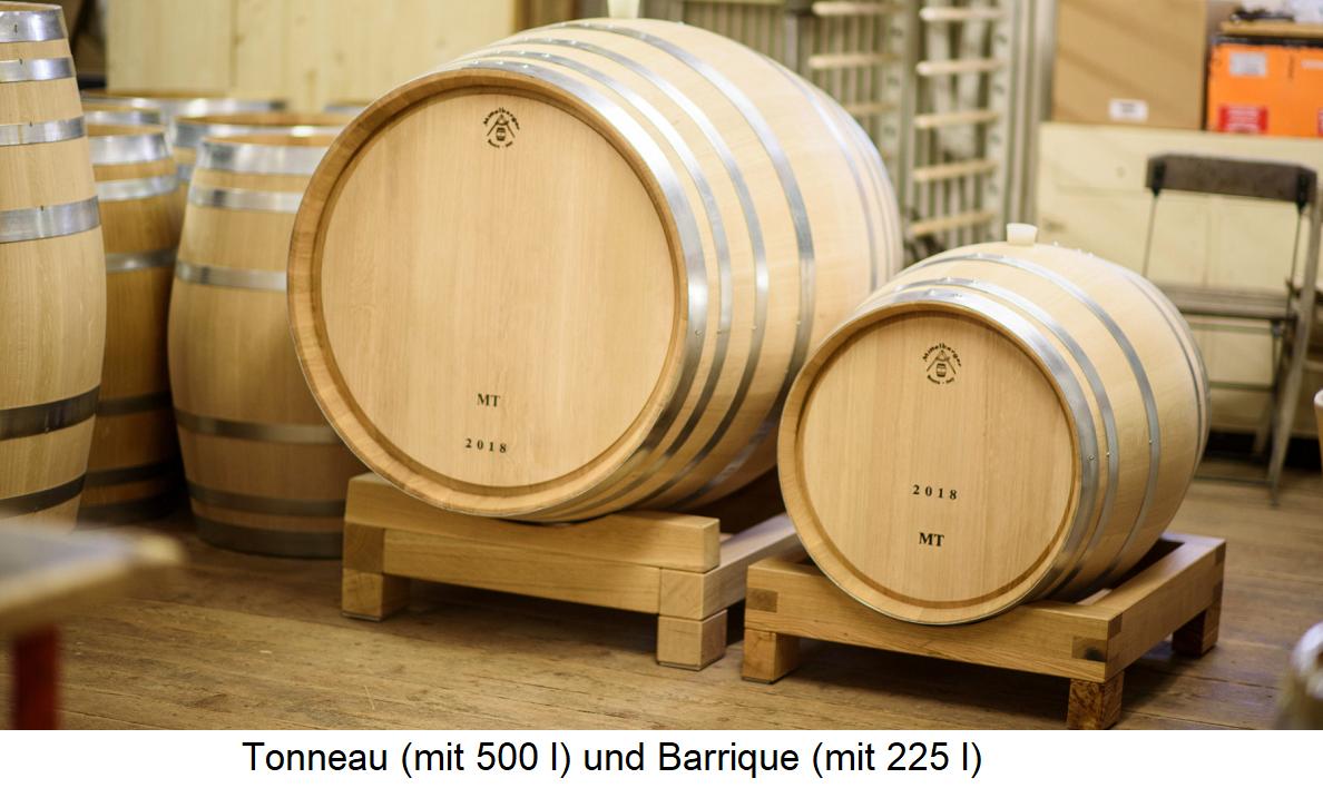 Tonneaufass (500 l) and barrel barrel (225 l)
