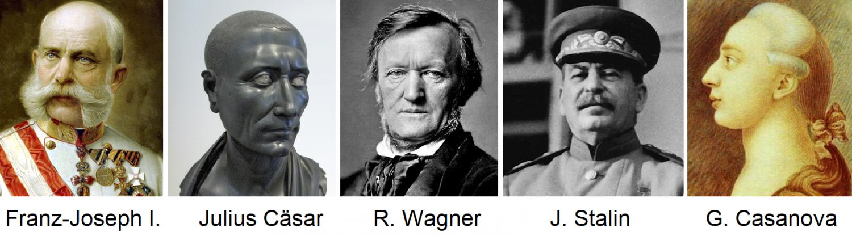 Favorite wines - Franz Joseph I, Caesar, Wagner, Stalin, Casanova