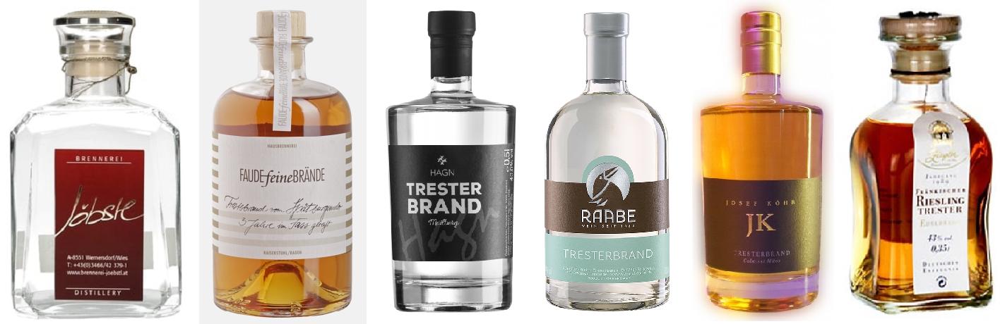 Pomace - 6 brands of pomace brandy