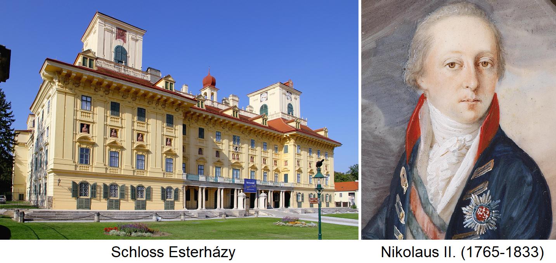 Esterházy - Schloss Esterházy und Nikolaus II.