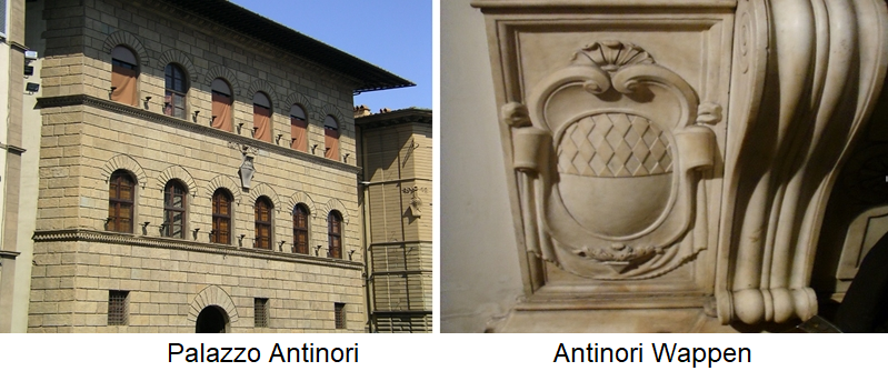 Palazzo Antinori and Antinori coat of arms