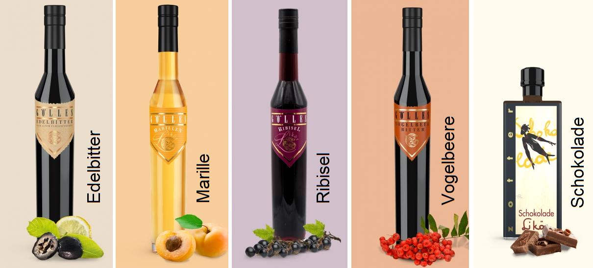 Liqueurs - 5 brands of Gölles