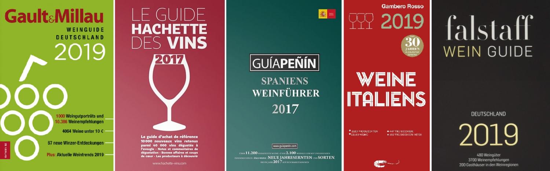 Weinführer - GaultMillau, Hachette, Penin, Gambero Rosso, Falstaff
