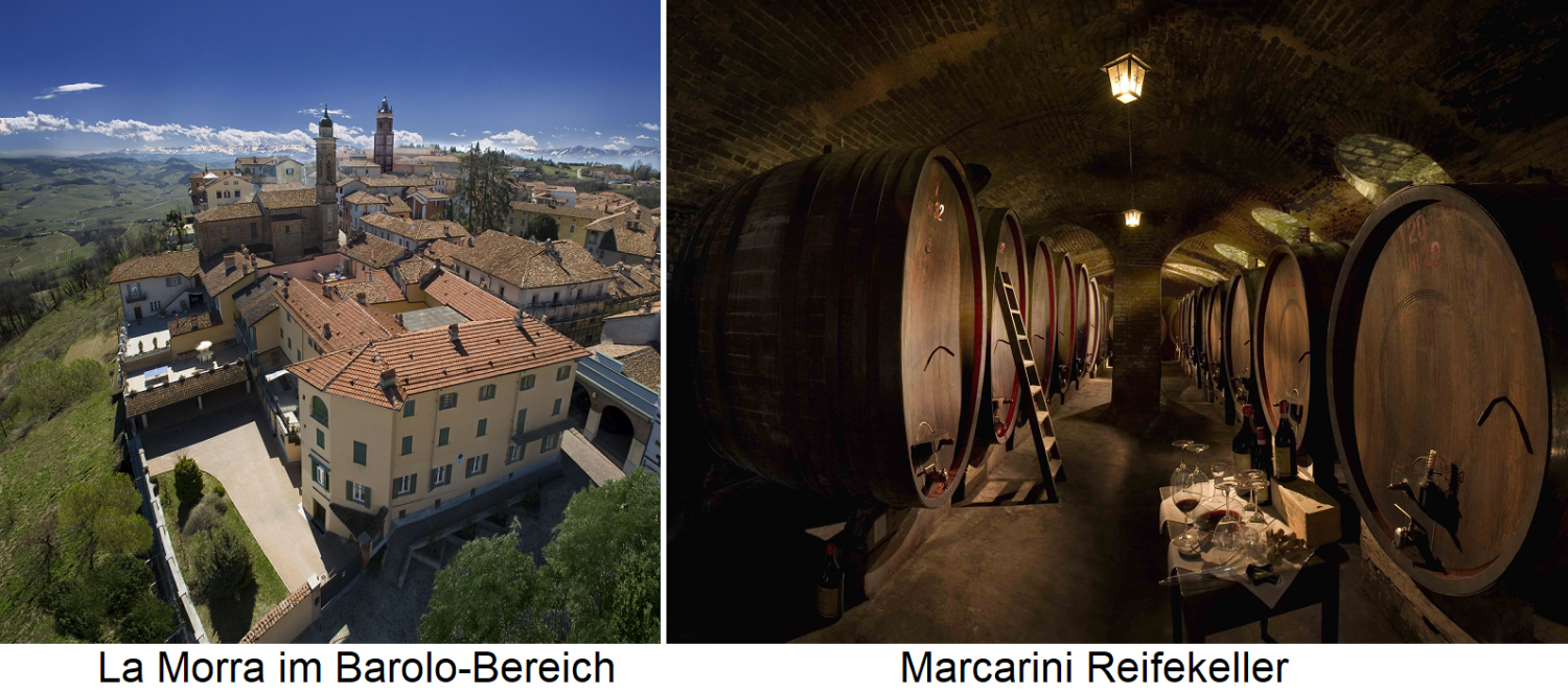 Marcarini - La Morra in the Barolo area and maturing cellar