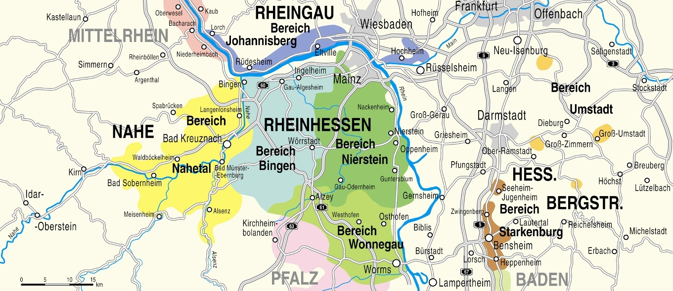 Map of the Nahe region