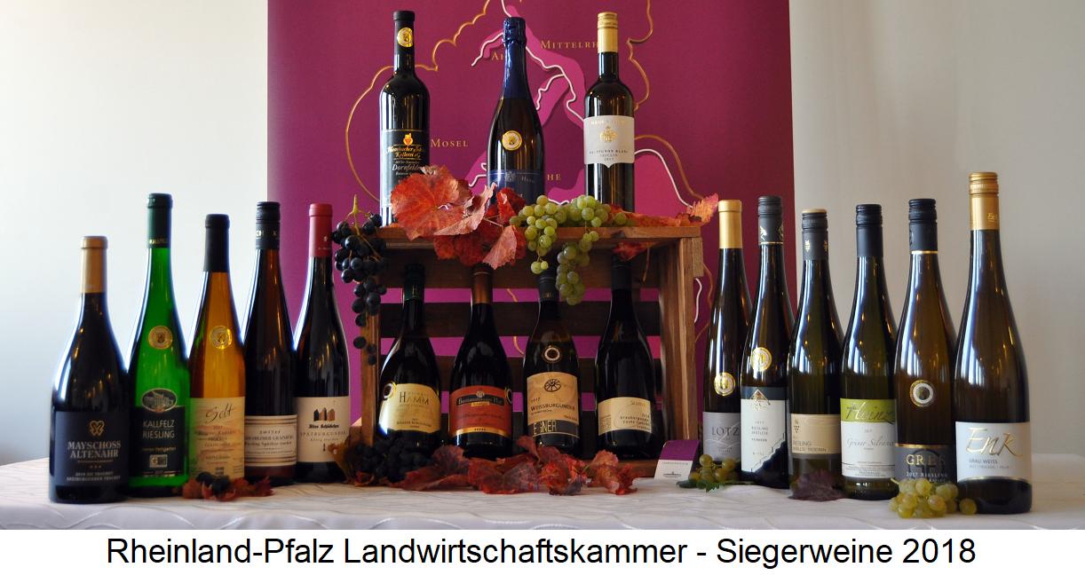 Rhineland-Palatinate - winning wines 2018