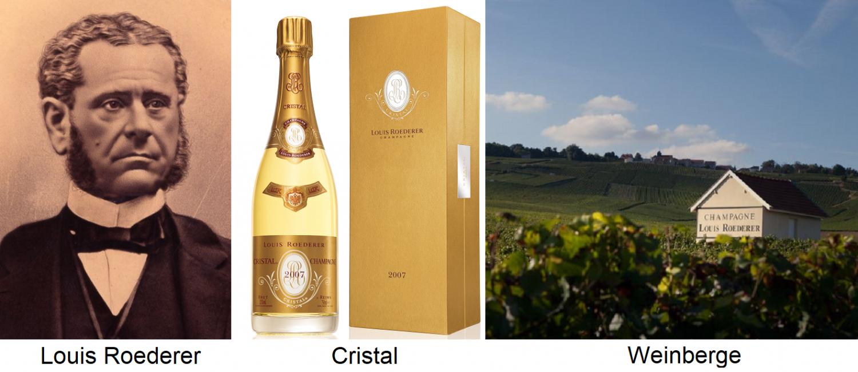 Roederer - Porte Louis Roederer, Cristal Bottle and Vineyard